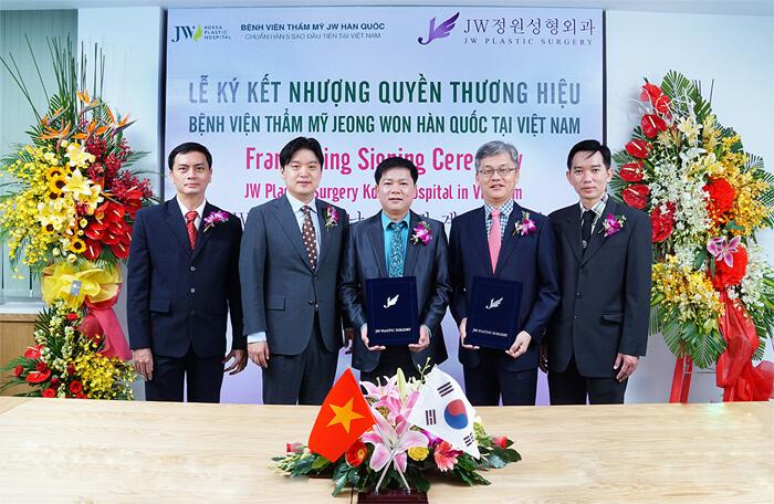Bệnh viện JW nhượng quyền thương hiệu chính hãng từ Jeong Won Hàn Quốc