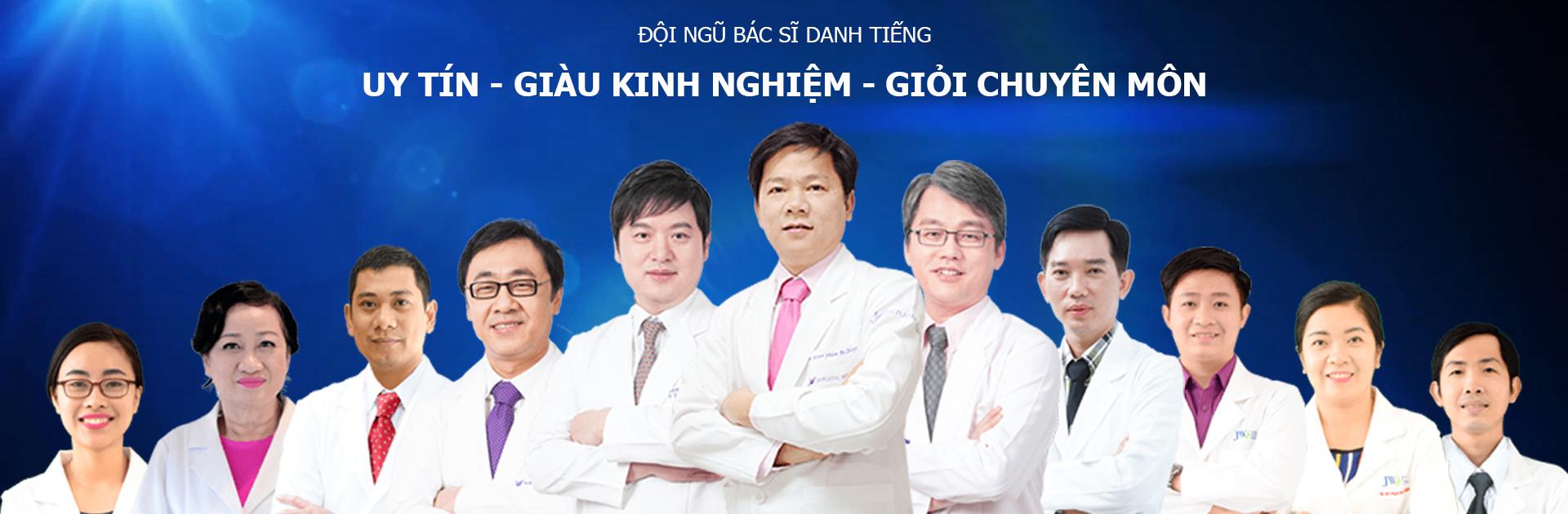 Đội ngũ những bác sĩ chuyên môn cao, giàu kinh nghiệm của Bệnh viện thẩm mỹ JW Hàn Quốc.