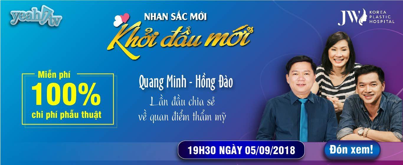 Banner Livestream Quang Minh Hồng Đào